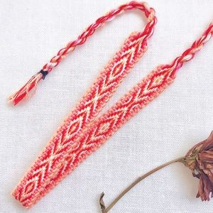 Jewelry - $4 BUNDLED❥ Peachy Boho Woven Bracelet